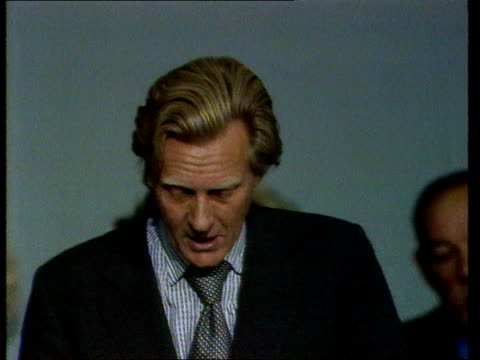 Conservative Party Conference a Michael Heseltine speech says the labour government should go ENGLAND Brighton Platform Heseltine SOF The cash is...