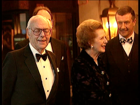 Conservative Party Thatcher Anniversary New Philosophy ITN ENGLAND London Hilton Hotel Former Prime Minister Lady Thatcher and her husband Sir Dennis...