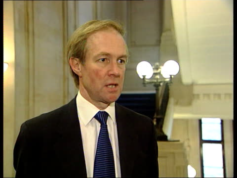 Conservative Party Thatcher Anniversary/New Philosophy ITN London Westminster Peter Lilley MP interview SOT Public doesn't trust us / We have to...