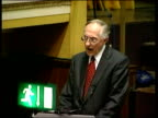 Devolution Continuing Election Campaigns ITN SCOTLAND Glasgow i/c Donald Dewar MP speech SOT Thing that matters is the provision of the service...