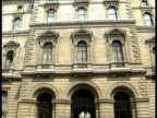 Expulsions Row **** FOR ENGLAND London Foreign Office AV Top of building TILT DOWN arches AV Corner of building