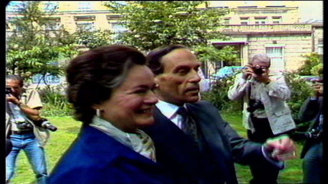Jeremy Thorpe Acquitted a ENGLAND London Mr and Mrs Thorpe in garden with his son Rupert and granddaughter Emily all pose CMS Jeremy Thorpe SOF I've...