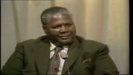 Politics Joshua Nkomo Interview b Nkomo interview ENGLAND London ITN Studio Nkomo SOF No what differences do you mean work of the conference