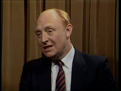 Labour Party Conference Day 4 Defence ENGLAND Sussex Brighton Michael Brunson i/c interview SOF 'I think to them' CMS ARTHUR SCARGILL interview SOF...