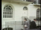 Lord Lucan Son Refused Permission to Sit in House of Lords LIB ENGLAND London Belgravia EXT Number on door '46' Belgravia EXT TRACK past Lucan house...