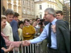 Major visit CZECHOSLOVAKIA Prague MS British PM John Major MP with wife Norma and others along TRACK BACK TMS Major and wife Norma with others along...