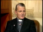 NATO US communications ENGLAND Interview with Monsignor Bruce Kent Campaign for Nuclear Disarmament General Secretary on the possibility of NATO...