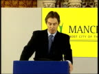 NorthSouth Divide Tony Blair Visit to Manchester Tony Blair speech SOT Midway thru this parliament seems good time to take stock which is why I...