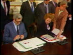 Patrick Ryan Extradition Moves 1985 N IRELAND TMS Thatcher Dr Garret Fitgerald aides Hillsborough as signing ceremony of Anglo Irish INJ Castle...