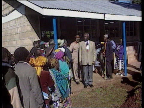 Presidential Election LIB President Daniel Arap Moi from building