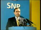 Scottish Assembly Election Campaign Begins ITN SCOTLAND Edinburgh i/c SNP Leader Alex Salmond MP releasing balloons at beginning of campaigning for...