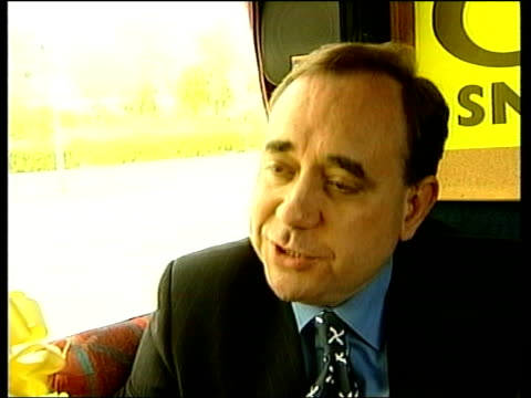 Scottish Parliament Election Campaign INT Alex Salmond MP interview SOT We could set up Scottish Foreign Office within budget of 100 million pounds...