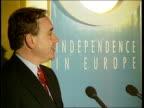 SNP Election rally ITN Alex Salmond speaking at pkf