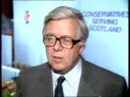 Politics Soviet short range arms reducton plans SCOTLAND Perth CMS SIR GEOFFREY HOWE MP interview SOF Russian proposals