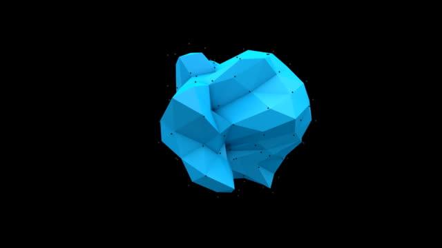 Polyhedral blu su bianco