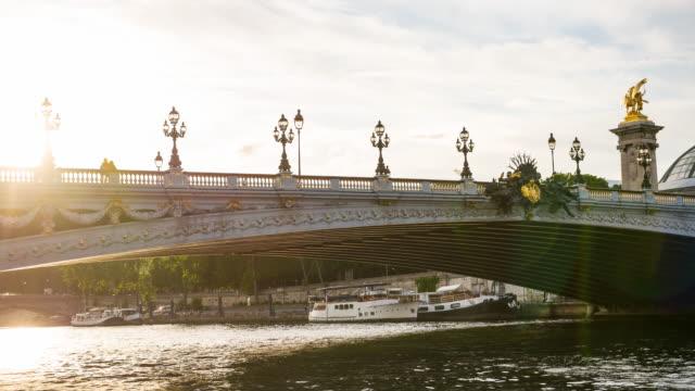 Pont Alexandre III over Seine river