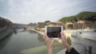 Ponte Fabricio over the River Tiber, Isola Tiberina, Rome, Lazio, Italy, Europe
