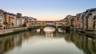 Ponte Vecchio, Firenze. Time Lapse at sunset