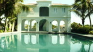 Pool cabana is seen during a tour of the former home of Al Capone on March 18 2015 in Miami Beach Florida The home being restored by MB America was...