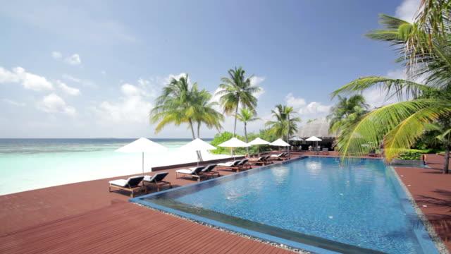 pool panorama on tropical island