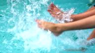 Pool Splashing Couple