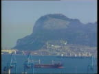 NATO military base suggestion LIB Rock of Gibraltar seen from moving car Rock of Gibraltar Military outlook on top of rock LIB 25890 SEQ British...