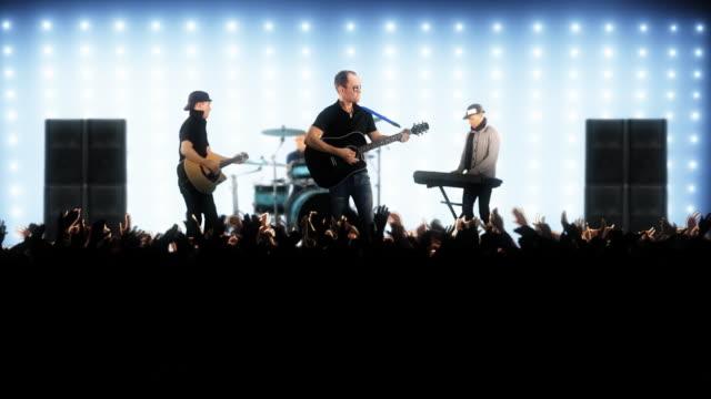 Pop band auf der Bühne