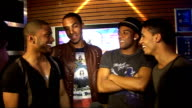 2010 Brit Award nominations Aston Merrygold Marvin Humes Jonathan 'JB' Gill and Ortise Williams interview SOT On being nominated for Best...