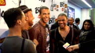 2010 Brit Award nominations La Roux chatting to Aston Merrygold Marvin Humes Jonathan 'JB' Gill and Ortise Williams / Aston Merrygold Marvin Humes...