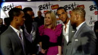 2010 Brit Awards ENGLAND London Earl's Court Brit Awards band members' interview SOT discuss forthcoming Brit Awards performance and Brit Awards...