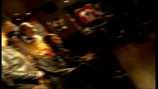 Aerosmith confirm Hyde Park concert date MUSIC OVERLAY Aerosmith unidentified song ENGLAND London Piccadilly Hard Rock Cafe EXT Aerosmith band...