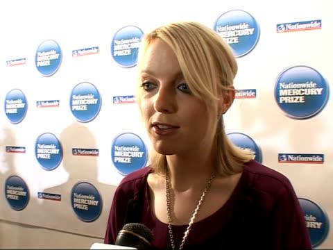 Nationwide Mercury Music Prize 2008 nominations Lauren Laverne interview continued SOT