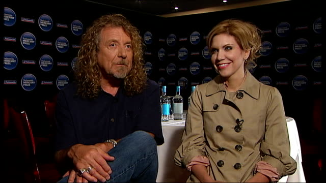 Robert Plant and Alison Krauss interview ENGLAND London INT Robert Plant and Alison Krauss interview SOT discuss their collaboration album Raising...