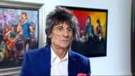 Ronnie Wood art exhibition and interview Ronnie Wood interview SOT
