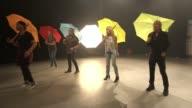The Fizz new album ENGLAND INT Cheryl Baker interview SOT/ Vairous of The Fizz members rehearsing dance routine for new video/ Mike Nolan interview...