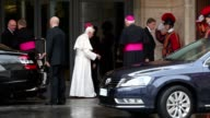 Pope Benedict XVI at Press Conference for the Closing of the Synod of Bishops on October 27 2012 in Vatican City Vatican