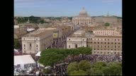 Pope Benedict XVI bestowed the status of 'blessed' on his predecessor John Paul II on Sunday in front of a cheering crowd of over a million people...