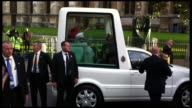 Pope Benedict XVI greets the people at the Pope Benedict XVI In London at London England