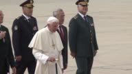 Pope Benedict XVI landed in Lebanon on Friday to start a threeday visit saying the multifaith country could serve as an example to a troubled Middle...