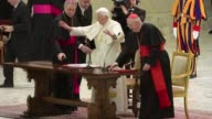 Pope Benedict XVI on Thursday called for real renewal in the Church at an emotional farewell with priests from his Rome diocese where he said he...