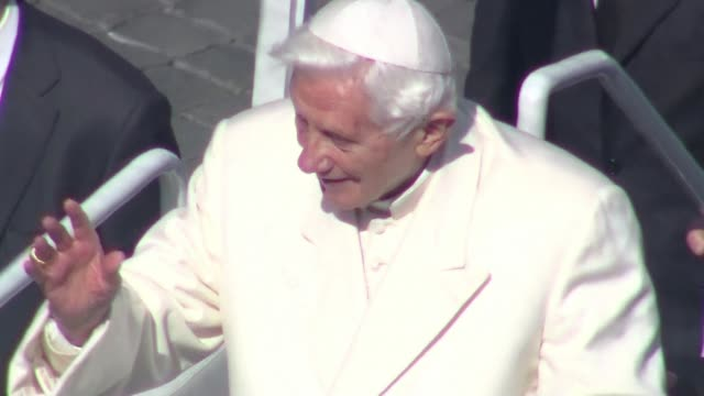 Pope Benedict XVI on Wednesday admitted he had faced stormy waters during his papacy as he gave his farewell speech in St Peters Square before tens...