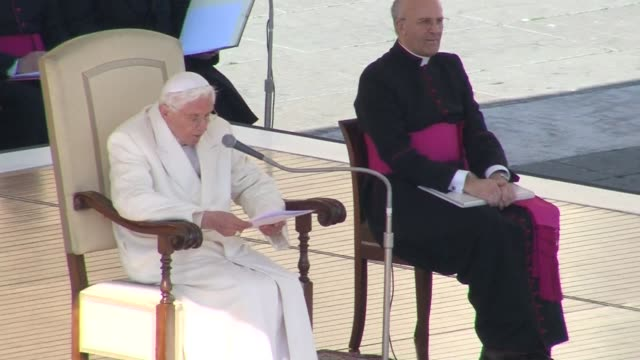 Pope Benedict XVI on Wednesday admitted stormy waters during his papacy as he gave his farewell speech in St Peters Square before tens of thousands...