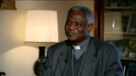 preview of Pope's last Ash Wednesday mass ITALY Rome INT Setup shots and interview Cardinal Peter Turkson SOT need to respect his decision / lesson...