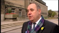 Day one Alex Salmond interview Alex Salmond interview SOT Mounting excitment An enormously important visit for the Catholics in Scotland and the...