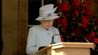day one Pope and Queen speak at Holyrood Palace / Procession through Edinburgh Queen speech SOT Religion has always been a crucial element in...