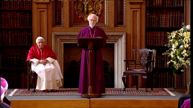 Day Two Lambeth Palace Dr Rowan Williams speech SOT Our task as bishops is to preach the Gospel and shepherd the flock of Christ and this includes...