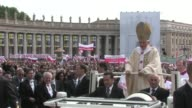 Pope Benedict XVI The Beatification of Pope John Paul II at Saint Peter's Square on May 01 2011 in Vatican City Vatican