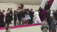 Pope Francis arrived in the United States on Tuesday for his first visit a sixday trip that will include a meeting at the White House with President...