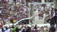 Pope Francis arrived to hold mass in the Colombian city of Villavicencio in front of a huge crowd of worshippers during second leg of Colombia tour