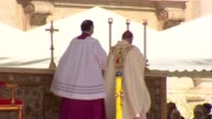 Pope Francis declared sainthood for Pope John Paul II and Pope John XXIII in a historic double canonization ceremony at St Peter's Square on April 27...